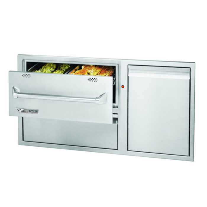 Twin Eagles 42 Warming Drawer Combo