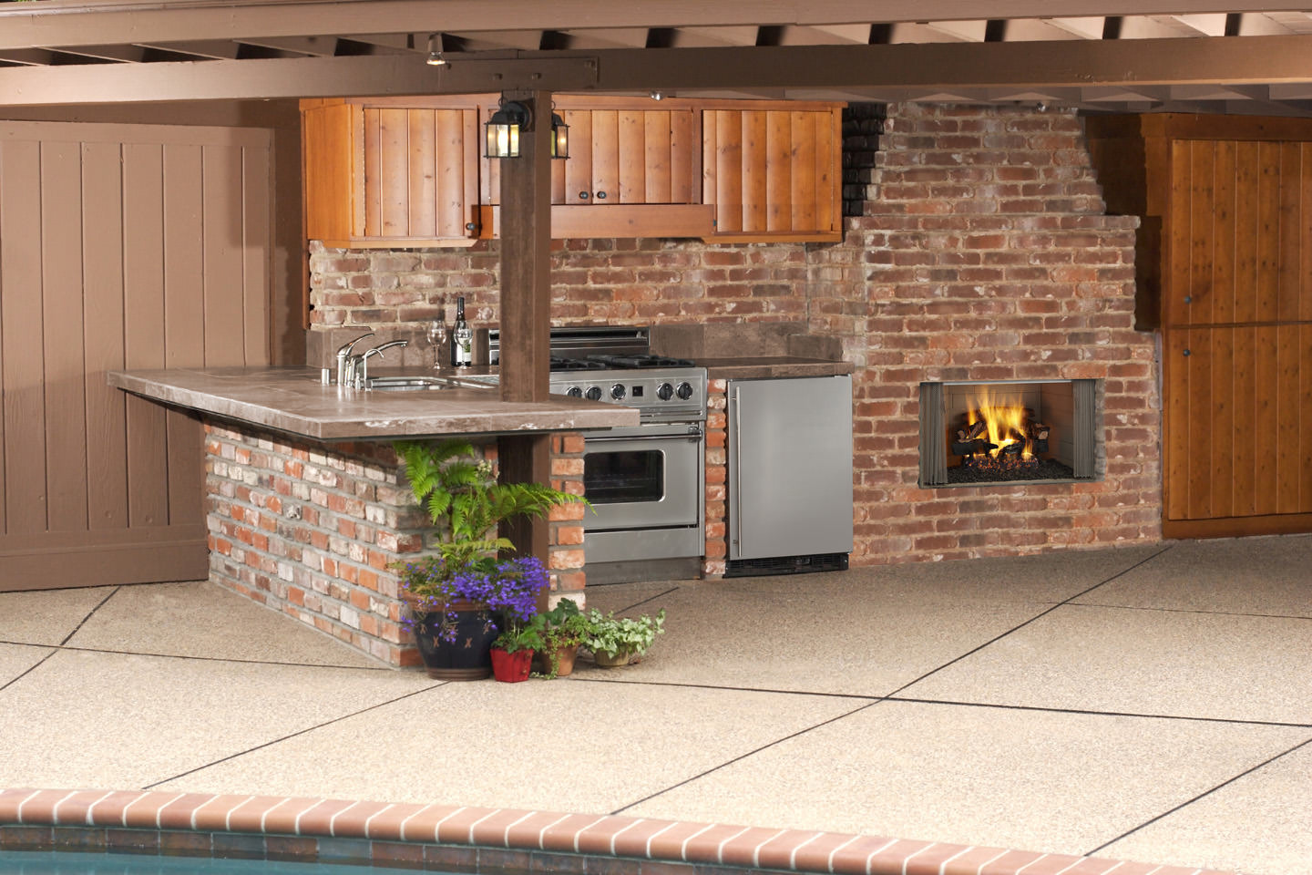 heatilator villawood 36 u0026 42 outdoor wood fireplace h2oasis