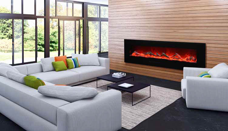 ... Flush Mount Electric Fireplace. ; 