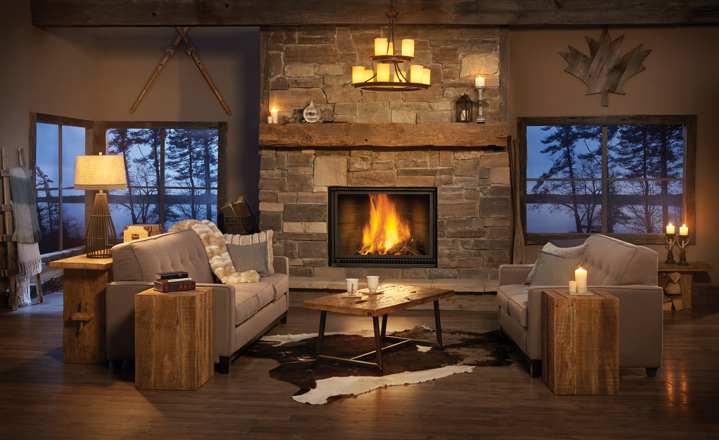 Napoleon - High Country 8000 Wood Fireplace - H2Oasis