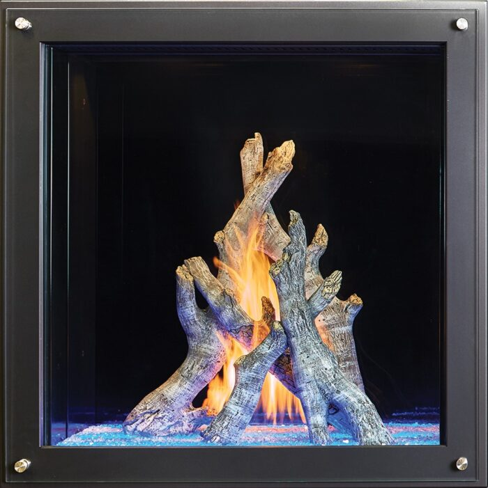 "36"" x 36"" Maestro Davinci Custom Gas Fireplace"
