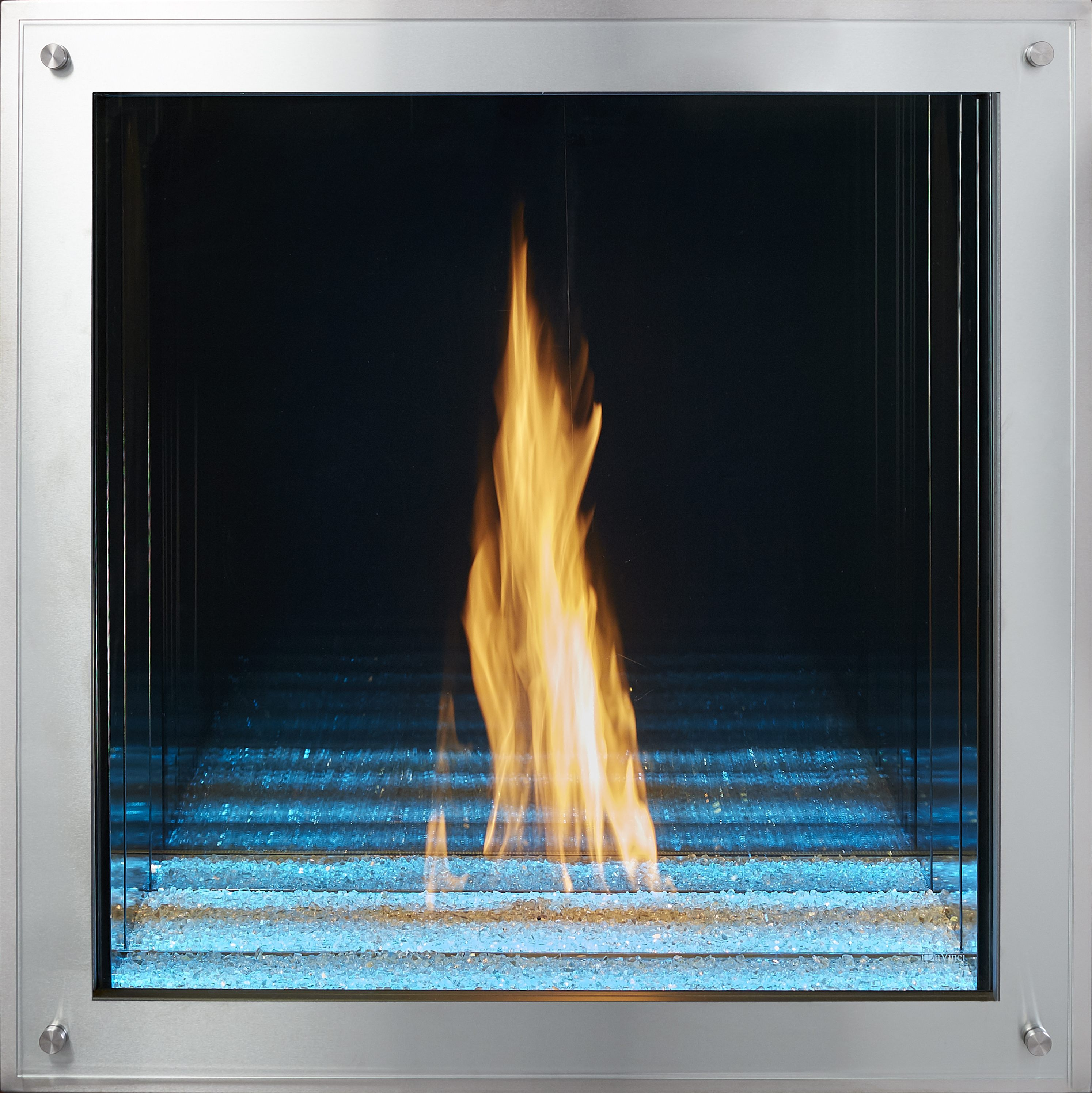 "36"" x 36"" Maestro Davinci Custom Gas Fireplace"
