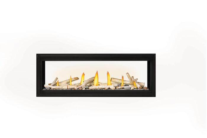 Napoleon Luxuria 50 See-Thru LVX50ST-Birch-Logs-Shore-Fire