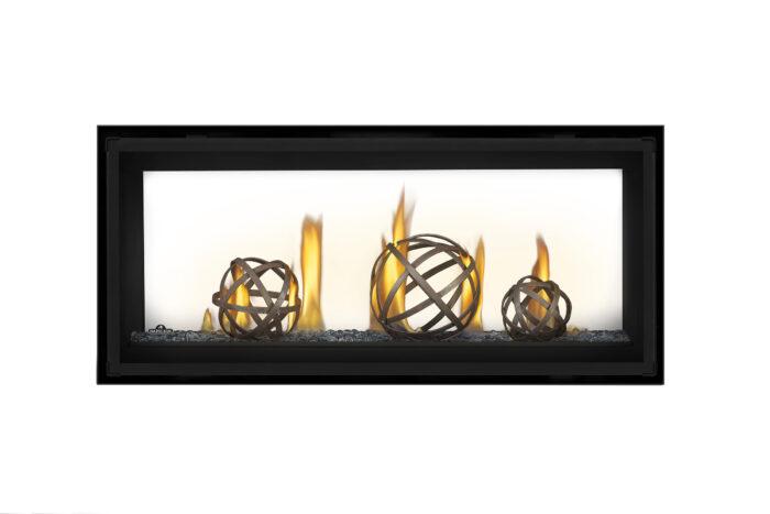 Napoleon Luxuria-LVX38 See-Thru-Wrought Iron Globes-GlassBeads