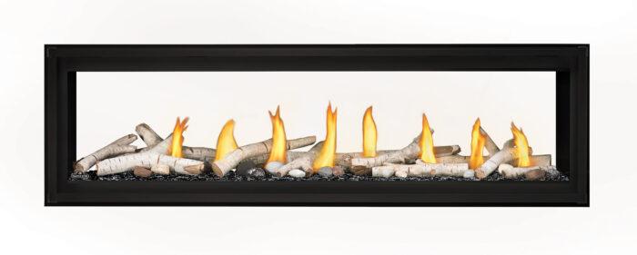 Napoleon Luxuria-LVX62 See-Thru-Birch-Logs-Black-Glass-Beads