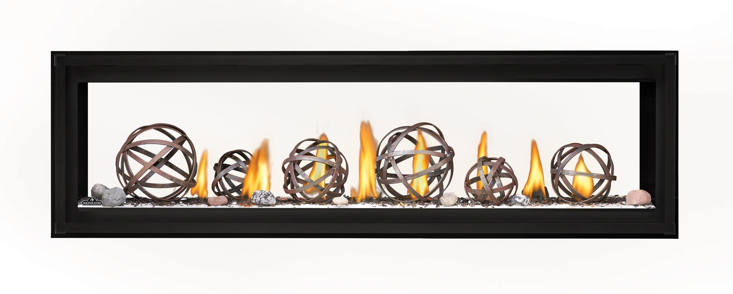 Napoleon Luxuria-LVX62 See Thru-Wrought-Iron-Globes-ShoreFire