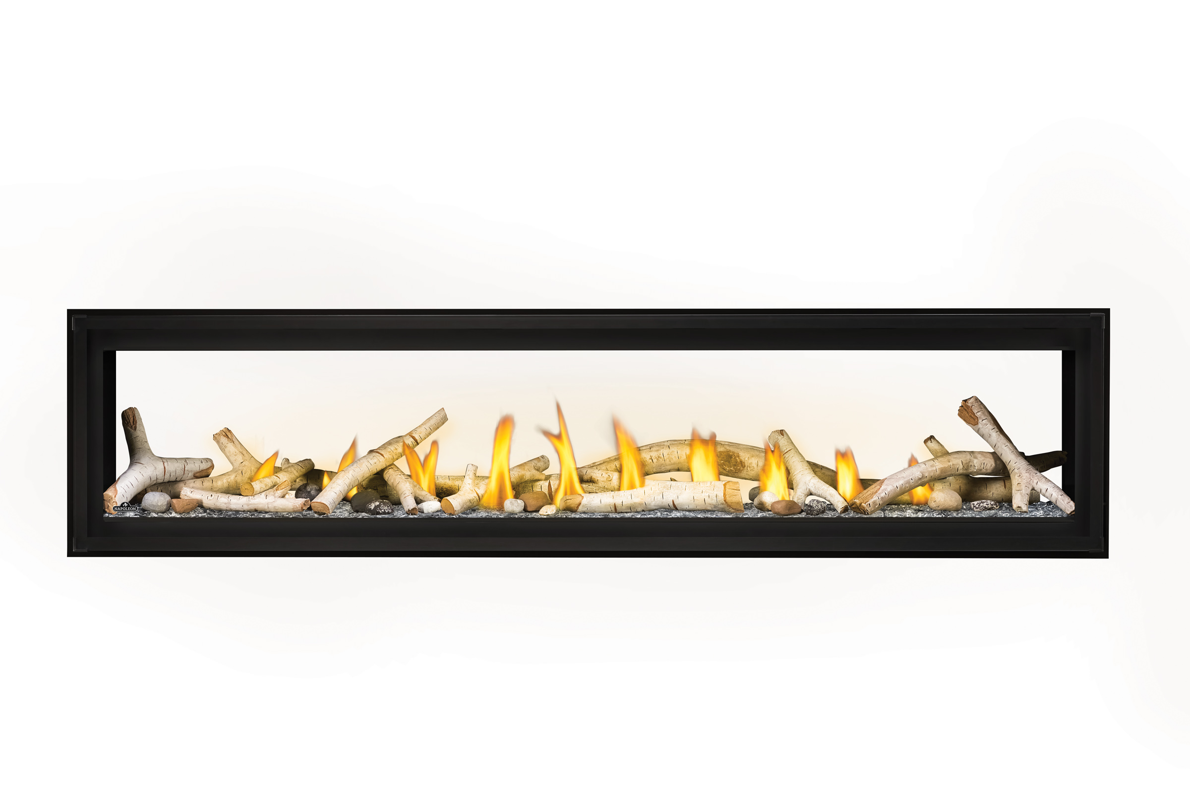 Napoleon Luxuria-LVX74 See Thru-Birch-Logs-Glass-Beads