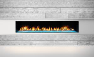 Heat & Glo PRIMO 72 Gas Fireplace - Crystal Glass, Black Glass Interior, 4C, High Res)