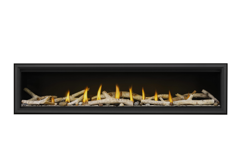 Napoleon Vector 74-LV74-Birch-Logs-Shore-Fire-Black-Premium-Safety-Barrier