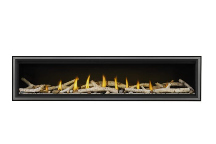 Napoleon Vector 74 -LV74-Birch-Logs-Shore-Fire-Stainless-Premium Safety Barrier