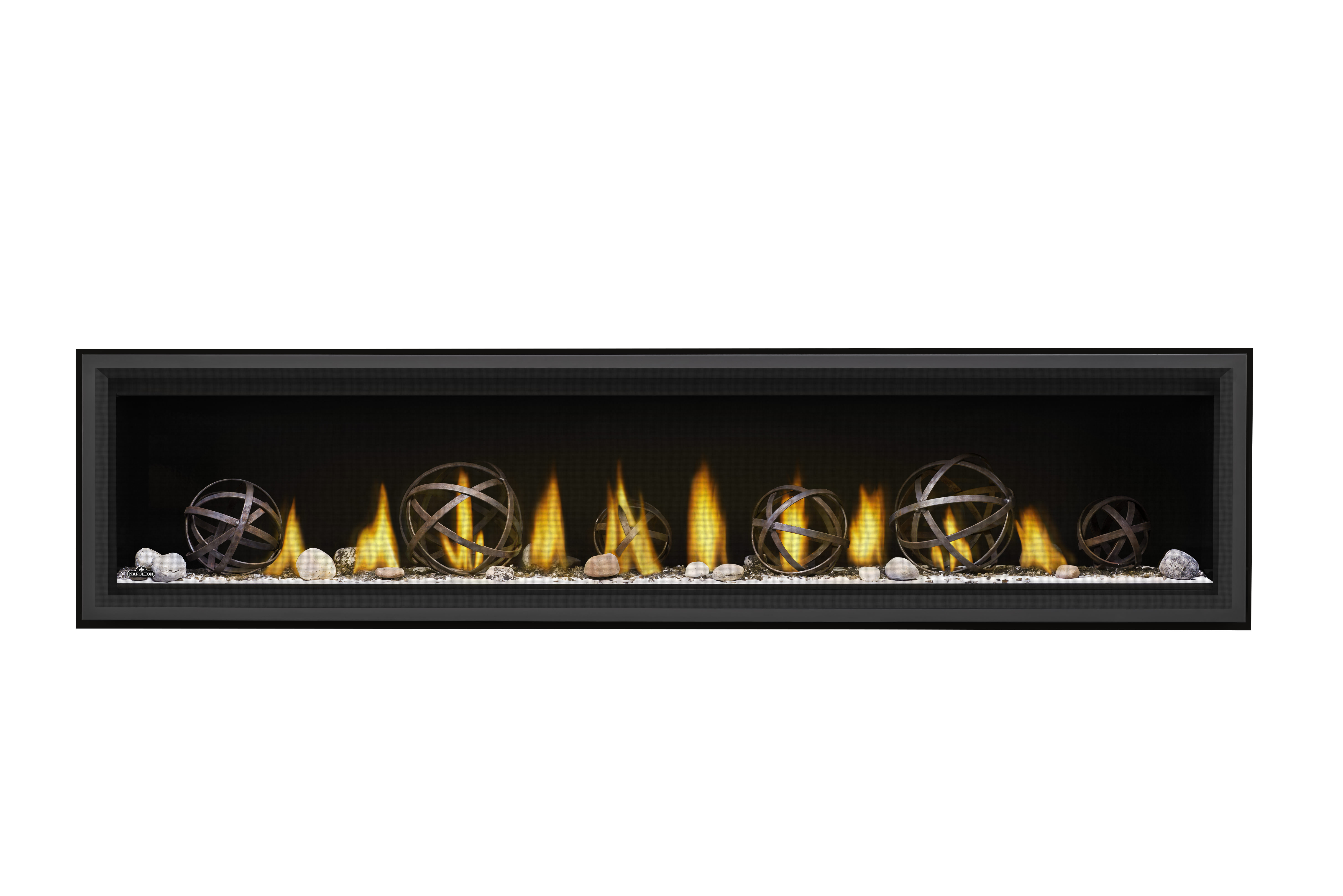 Napoleon Vector 74-LV74-Wrought-Iron-Globes-Shore-Fire-Premium-Safety-Barrier
