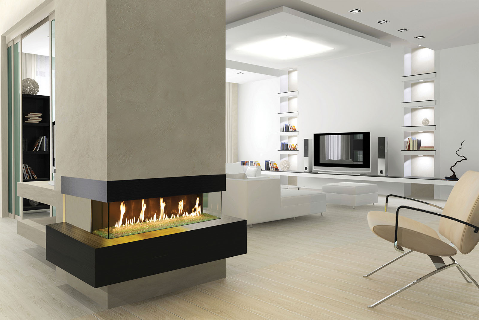Davinci Gas Fireplace Bay 72x12 109136
