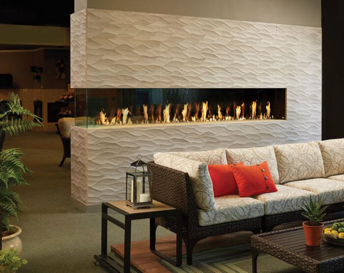Davinci Gas Fireplace Pier 150x20 108776