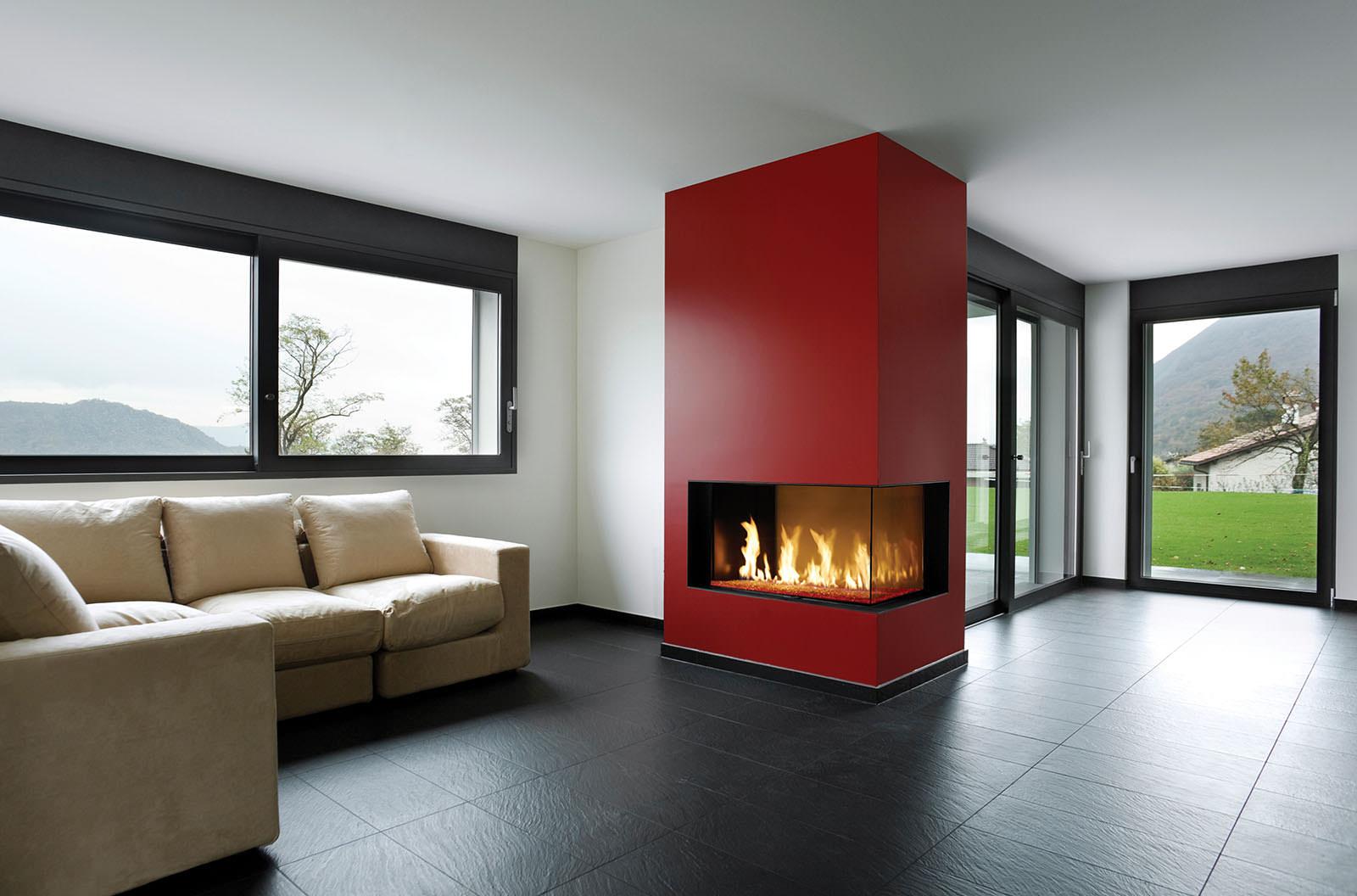 Davinci Gas Fireplace Right Corner 54x20 109143