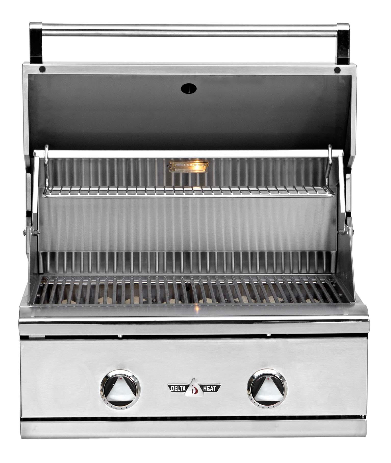 """Delta Heat Premier 26"""" Outdoor Built-In Gas Grill - DHBQ26R- C - Open"""