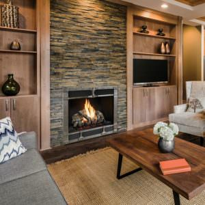 864 TV 40K Gas Fireplace