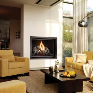 864 TV 40K Clean Face gas fireplace