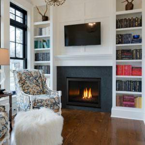 6000 Modern gas fireplace