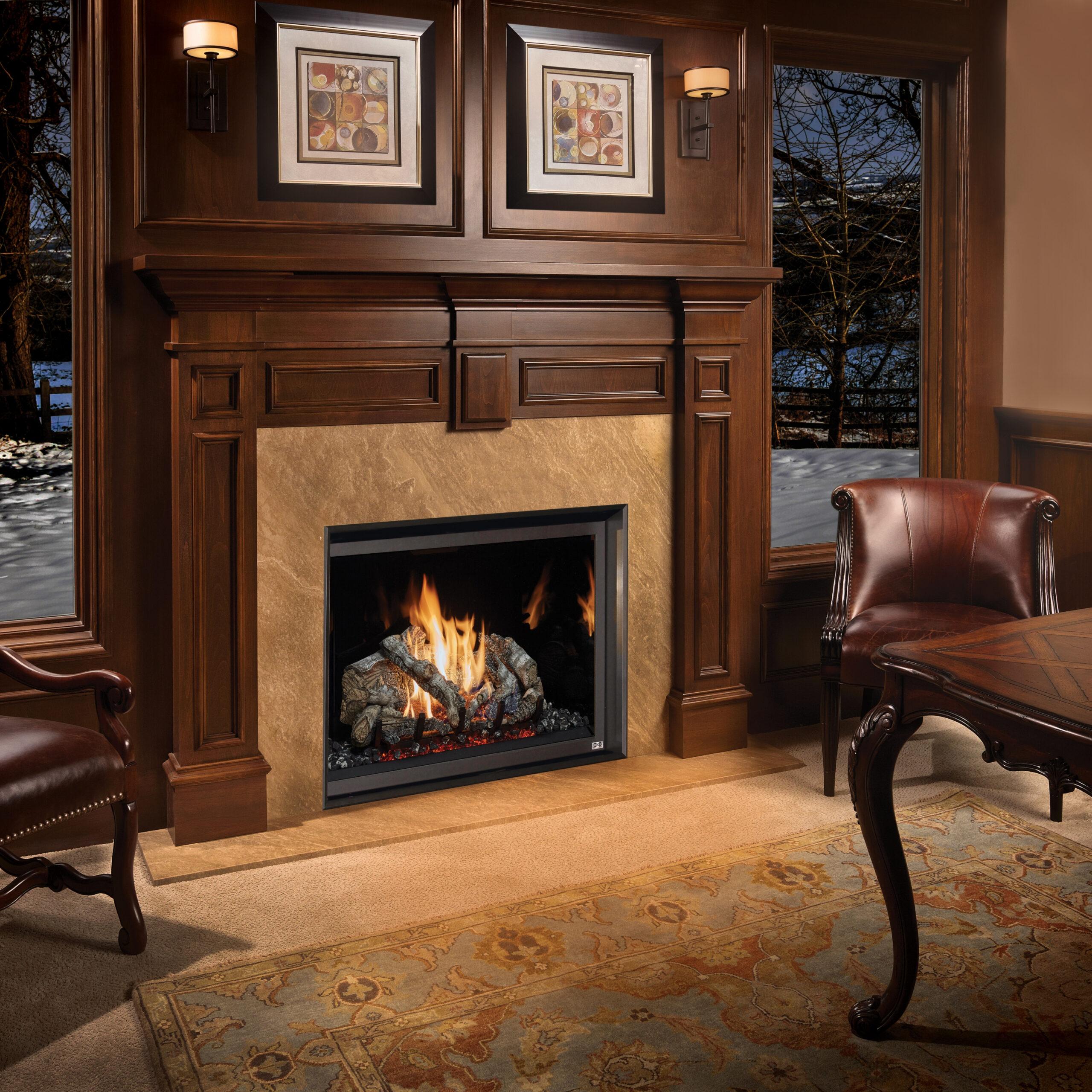 Fireplace Xtrordinair 864 TV 40K Clean Face Gas Fireplace 4