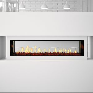 Primo See-Through gas fireplace