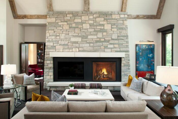 True gas fireplace