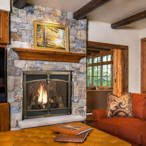 4237 TV gas fireplace