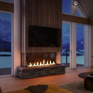 Foundation bay gas fireplaces