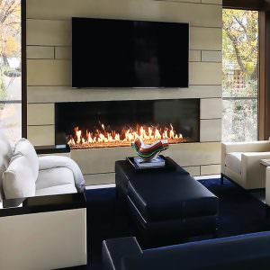 Foundation gas fireplaces