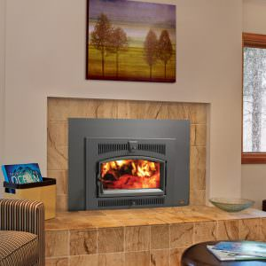 Medium Flush Wood NexGen-Fyre Arched Wood Insert