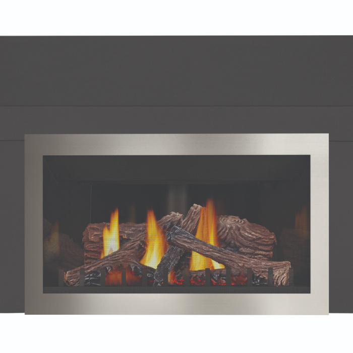 inspiration gdizc sb 3sided contemporary trim faceplate nickel 3sided backerplate prrp napoleon fireplaces 1