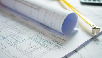 122660911 home blueprint on the architect s desk
